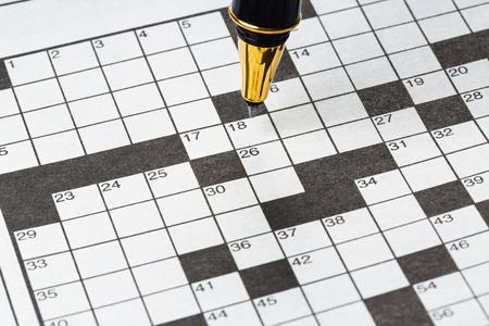 crossword: Crossword Puzzle Stock Photo