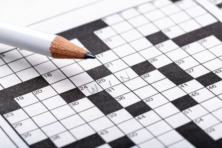 crossword puzzle: Crossword Puzzle Stock Photo