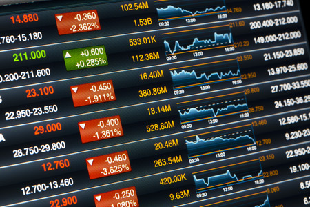 trading board: stock chart Stock Photo