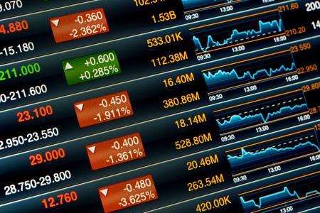 stock chart Imagens - 48417798