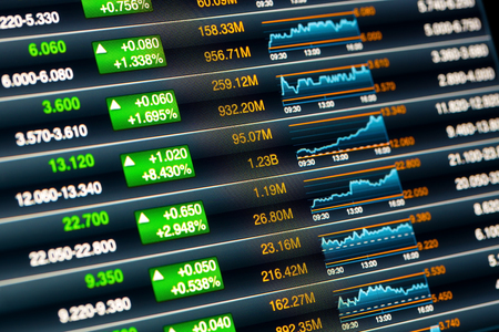 stock market data: stock chart Stock Photo