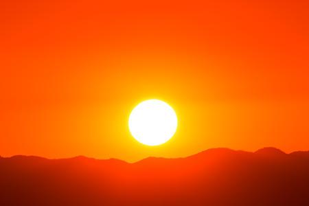 mountain sunset: Sunset over mountain Stock Photo