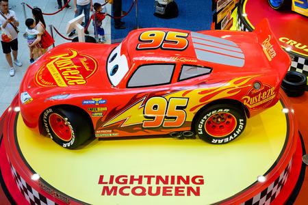 "Hong Kong - july10, 2017: Disney Pixar feature film ""Cars 3"" Racing Mania. Displays the event at the emporium Hong Kong. Editorial"