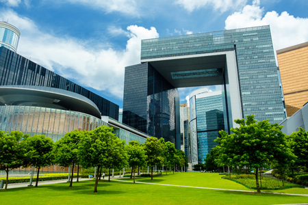 New Central Government Complex in Hong Kong Stock Photo - 82443281