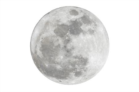 Full moon isolated over white background Archivio Fotografico
