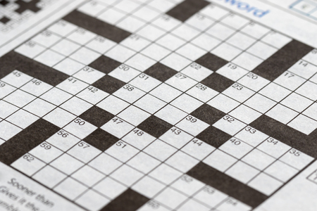 The blank crossword closeup Banque d'images