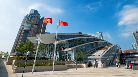 Architektur des Hochgeschwindigkeitsbahnhofs in Westkowloon Hongkong