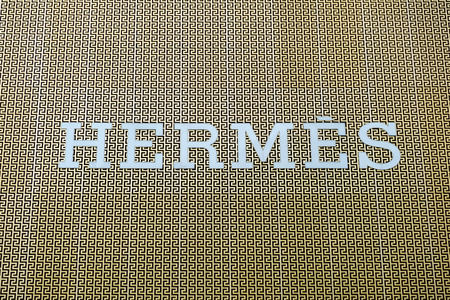 Tsim Sha Tsui, Hong Kong, China - April 09, 2019: Hermes brand logo seen in Tsim Sha Tsui Hong Kong