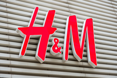 H&M brand logo seen in Tsim Sha Tsui Hong Kong