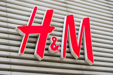 H&M brand logo seen in Tsim Sha Tsui Hong Kong