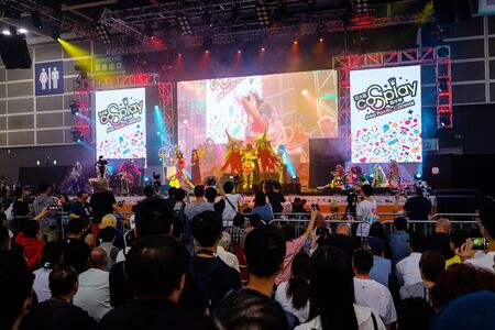 Hong Kong - July 30, 2019: Visitors and fans watch at the main stage the official