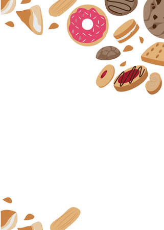 Cookie. Background for the design.