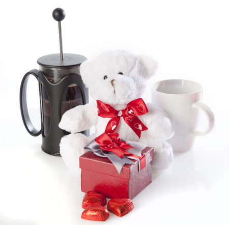 Coffee and valentines gifts photo