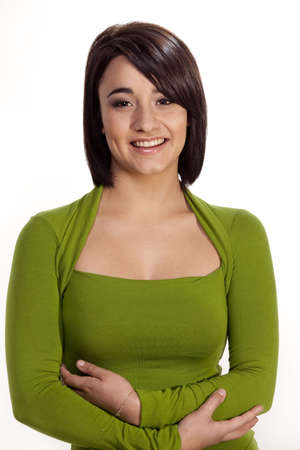 Friendly gorgeous brunette.