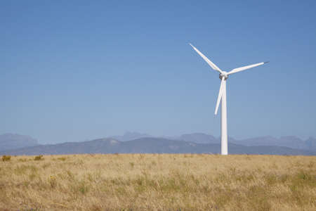 Wind powered generator in the Western Cape Stock Photo