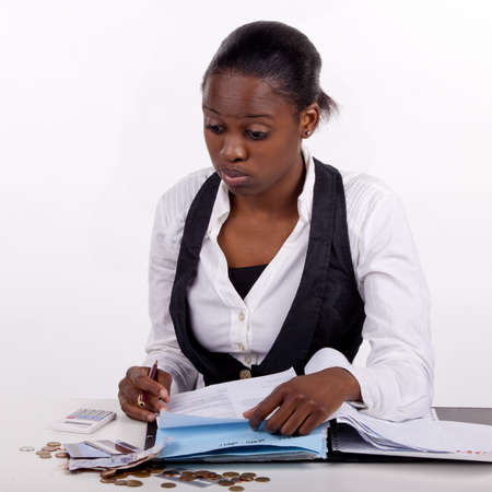 Young woman doing administrative work. Stock Photo - 13277757