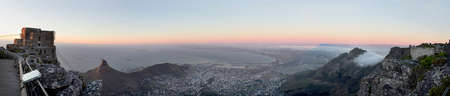 Panoramic view of Cape Town from Table Mountain, Western Cape, South Africa