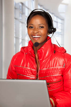 mobile voip: Female Customer Service Agent
