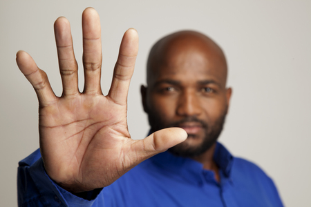 High 5 from a South African man