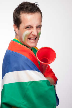 south african: Passionate South African sports supporter
