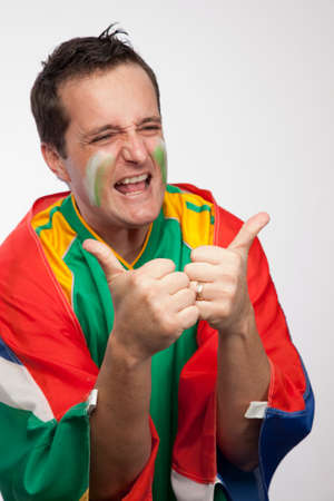 Passionate South African sports supporter