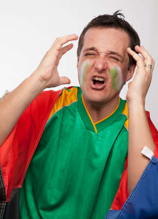 Disappointed South African supporter