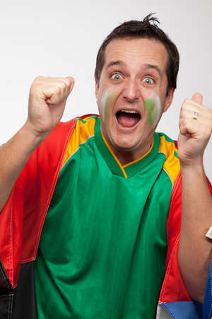 Excited South African Sport Supporter