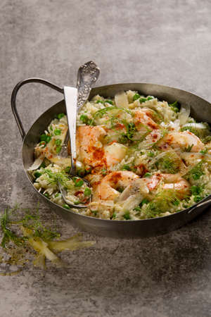Creamy Prawn and pea stew