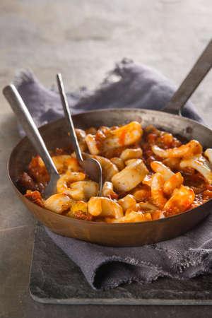 Squid and chorizo stew Stock Photo