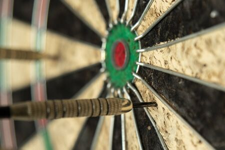 A dart missing the bulls eye, even if not by much.