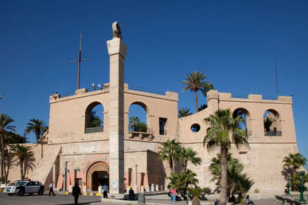 Tripoli, Libya, 4 November 2009. The Red Castle Museum, also known as Assaraya Alhamra Museum or the Archaeological Museum of Tripoli, is a national museum in Libya. It is located in the historic building known as the Red Castle, or Red Saraya. During Gha