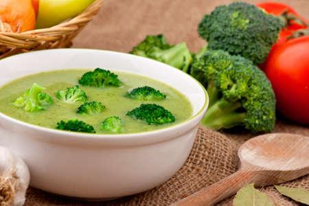 Soupe aux brocolis Banque d'images