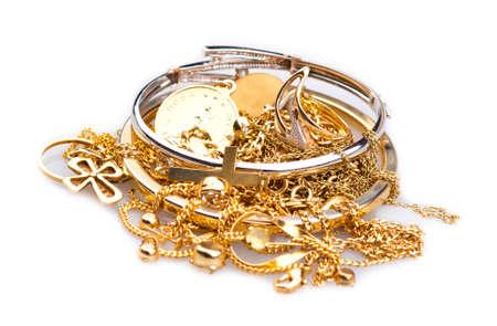 Scrap Gold Stockfoto