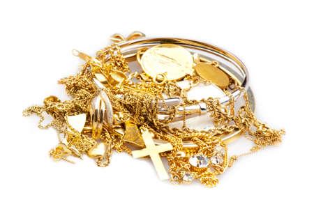 �gold: Chatarra de oro Foto de archivo