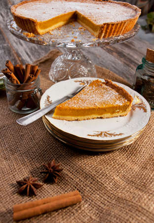 Pumpkin pie  photo