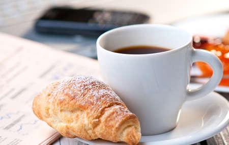 Koffiepauze op het werk