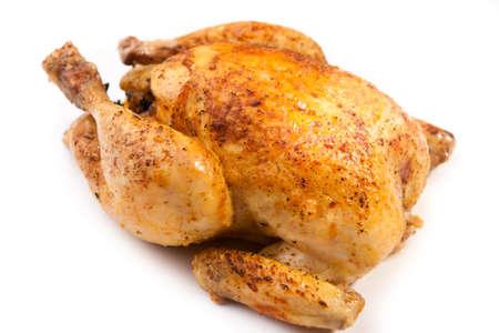 carne de pollo: Pollo asado Foto de archivo