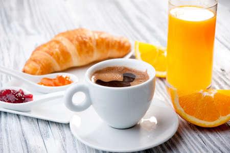 Continentaal ontbijt Stockfoto