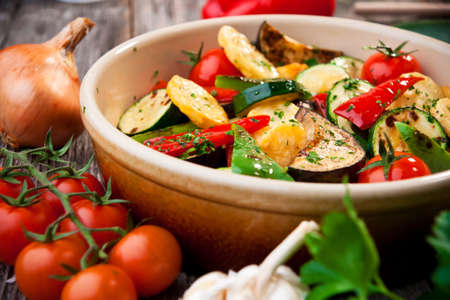 野菜のオーブン焼き 写真素材