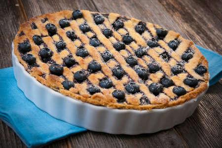 blueberry pie: Pastel de ar�ndano Foto de archivo