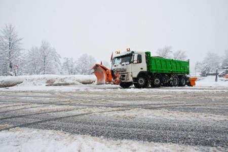 Dienst winter in actie Stockfoto