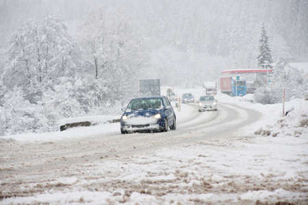 La conduite en hiver dans la neige
