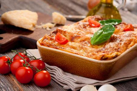 lasagna: Lasagna Foto de archivo