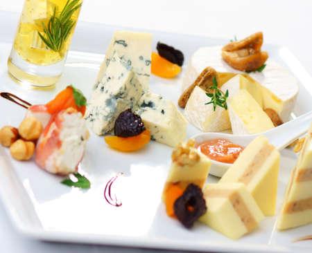 sauternes: Gourmet Cheeseplate   Stock Photo