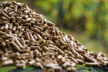 Wood pellets  photo