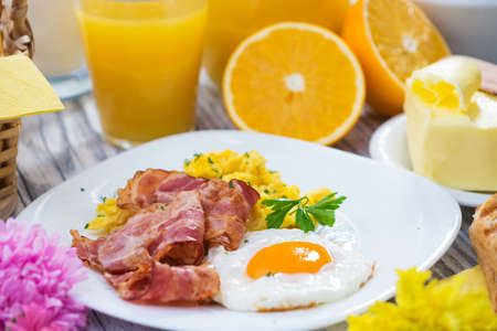 breakfast eggs: Breakfast Stock Photo