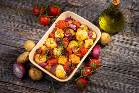 grilled potato: Balsamic Roasted Potatoes   Tomatoes