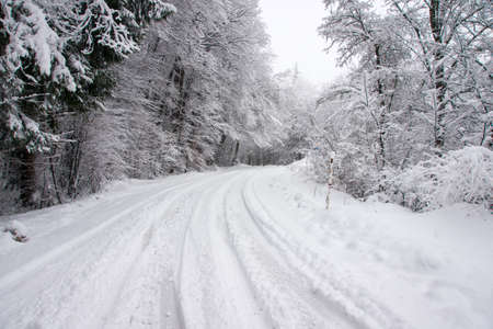 Winter road photo