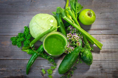 Healthy green juice Stock Photo