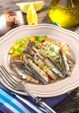 engraulis encrasicolus: Grilled anchovy